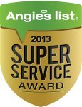 Angie's List Super Service Award 2014 winner